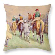 Hethersett Steeplechases Throw Pillow by John Atkinson