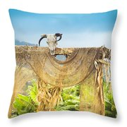 Heu-mann Throw Pillow