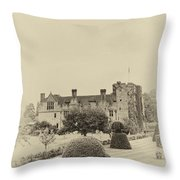Hever Castle Yellow Plate 2 Throw Pillow
