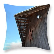 Hex Projection Throw Pillow