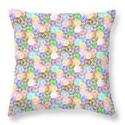 Hexagonal Cubes Throw Pillow