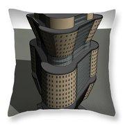 Triagonal Building 3 Throw Pillow