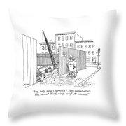 Hey, Baby, What's Happenin'?  How's Throw Pillow