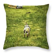 Hey Kids - The Bus Is Here Throw Pillow