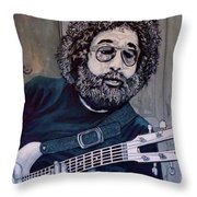 Hey Now - Blue Jerry Throw Pillow
