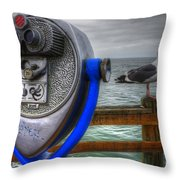 Hey Somebody Look At Me Throw Pillow by Bob Christopher