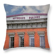 Heywoods Heywood Building In Old Sacramento California Throw Pillow