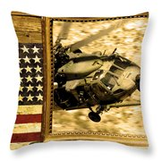 Hh-60 Pave Hawk Rustic Flag Throw Pillow