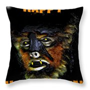 Hh Wolfman Card Style Throw Pillow