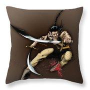 Hhu'manni Warrior Throw Pillow
