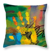 Hi 5 Throw Pillow