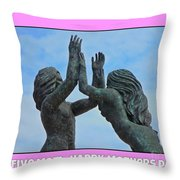 Hi Five Throw Pillow