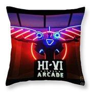 Hi-vi Arcade Throw Pillow