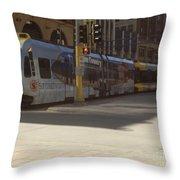 Hiawatha Line Light Rail Throw Pillow