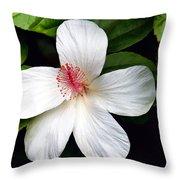 Hibiscus 54 Throw Pillow
