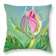 Hibiscus Blossom Throw Pillow