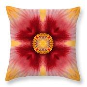 Hibiscus Close-up--kaleidoscope Throw Pillow