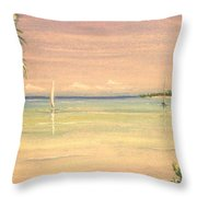 Hibiscus Cove Throw Pillow