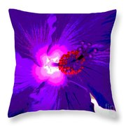 Hibiscus - Flower - Ile De La Reunion - Reunin Island Throw Pillow