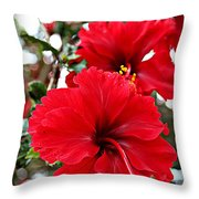 Hibiscus Perspective Throw Pillow