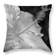Hibiscus Profile Throw Pillow