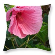 Hibiscus Profile Throw Pillow