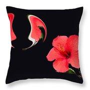Hibiscus Seed Dream Digital Art Throw Pillow
