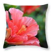 Hibiscus Summer Throw Pillow