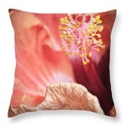 Hibuscus Talking  By Zina Zinchik Throw Pillow
