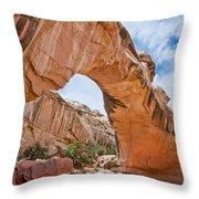 Hickman Bridge Natural Arch Throw Pillow