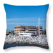 Hidden Behind The Rocks Throw Pillow