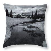Hidden Beneath The Clouds Throw Pillow