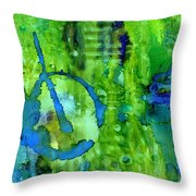 Hidden Blossoms Throw Pillow
