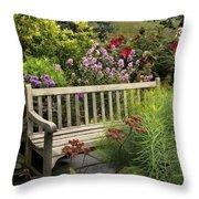 Hidden Garden Charm Throw Pillow