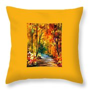 Hidden Emotions - Palette Knife Oil Painting On Canvas By Leonid Afremov Throw Pillow