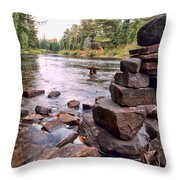 Hidden Fisherman Throw Pillow