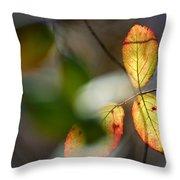 Hidden Forest Leaves Throw Pillow