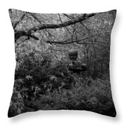 Hidden Garden In Black And White Throw Pillow