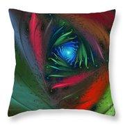 Hidden Jungle Plant-abstract Fractal Art Throw Pillow