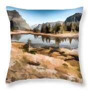 Hidden Lake Trail Glacier National Park Throw Pillow