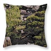 Hidden Pagoda Throw Pillow