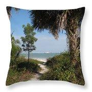 Hidden Path To The Beach Throw Pillow