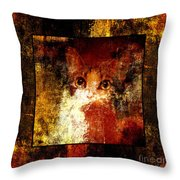 Hidden Square Throw Pillow by Andee Design