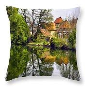 Hidden Village Throw Pillow
