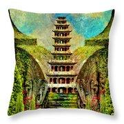 Hidden Zen Throw Pillow