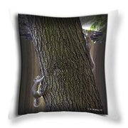 Hide And Seek Squirrels Throw Pillow