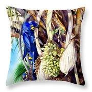 Hide-n-seek Hyacinths Throw Pillow