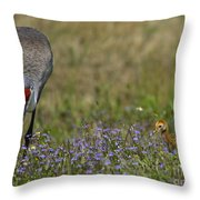 Hiding In The Flowers Throw Pillow