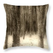 Hiding In The Trees By Diana Sainz Throw Pillow