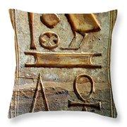 Hieroglyphics At Amada Throw Pillow
